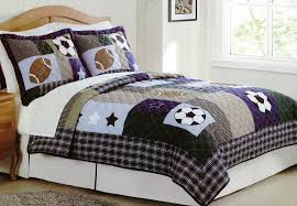 Sports bedding - Twin / Full size kids and boys sports bedding & Sports bedding Collage quilt set with shams Adamdwight.com
