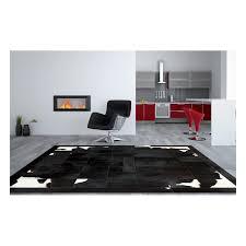 reduced patchwork cowhide rug k 1699 black brown white