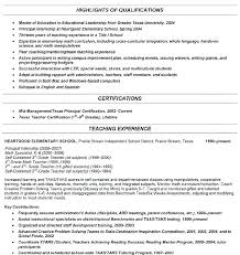 Example Of Teaching Resume Resume Samples Teacher High School ...
