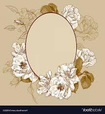 Oval frame design Pink Vintage Roses Oval Frame Vector Arenawp Vector Ornate Design Oval Sohadacouri