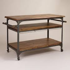 Metal Kitchen Island Tables Wood And Metal Jackson Kitchen Cart Industrial Kitchen