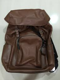 genuine coach brown leather backpack men s fashion bags wallets on carou