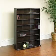 Cherry Wood Dvd Storage Cabinet Sauder Cinnamon Cherry Multimedia Storage Tower 409110