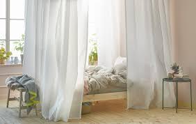 Gardinen Im Schlafzimmer Mit Vigda Leicht Gemacht Ikea