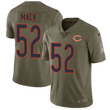 Inverted Jersey Khalil - Legend Silver Football Limited Mack Sale Bears 52 Chicago Women's