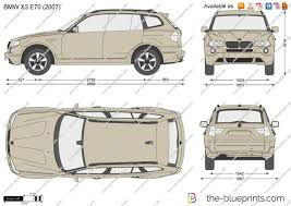 BMW Convertible bmw x3 2013 model : BMW X3 E83 vector drawing