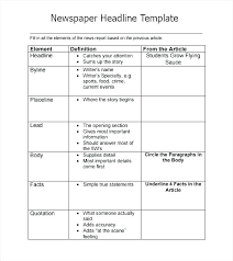 News Story Outline Template Newspaper Report Template News Twinkl Planning Worksheets E Seall Co