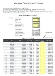 Amortized Schedule Excel Mortgage Amortization Spreadsheet Excel Download Mortgage Calculator