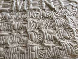 Periodic Table Quilts — Theodore Gray & Periodic Table Quilt, Natural Fabric, Subtle Thread Color Adamdwight.com