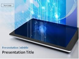 Download Tablet Pc With Digital Content Powerpoint Template