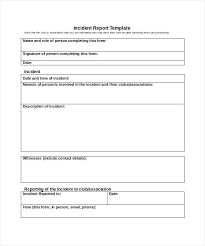Police Report Request Form Sample Download Incident Template