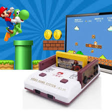 Máy chơi game điện tử 4 nút dùng băng kết nối HDMI, AV tay cầm điều khiển  không dây - Máy Chơi Game - Console