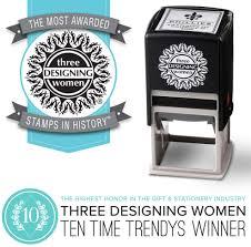 Three Designing Women Certificate Three Designing Women Custom Designer Address Self Inking Stamp
