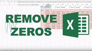How To Remove Blank Zero Values From A Graph In Excel
