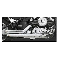 v star 650 custom exhaust off 51
