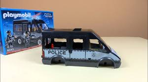 Playmobil City Action Police Van With Lights And Sound 6043 Playmobil Police City Action Polizei Mannschaftswagen 6043