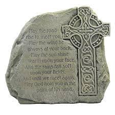 home garden celtic cross stone