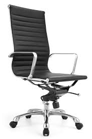 aof high back executive chair with genuine leather 8801 black leather