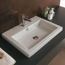 pleasurable ideas inset bathroom sinks ceramica tecla modern uk images