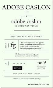 Lets Type Adobe Caslon Pro Typography Typography