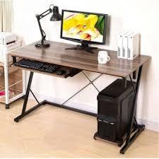 office study desk. GTE Simple Modern Wooden Desktop Computer Desk Z-Shape Home Office Table Study (Z5) - Brown Malaysia E