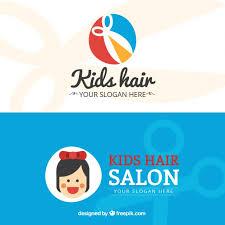 Kids Hair Salon Flat Business Card Vector Premium Download