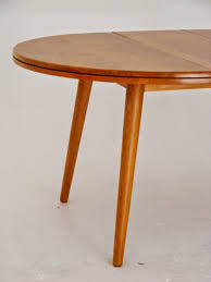 beautiful solid oak extendable round to oval mid century dining table extended 115cm x 150cm height 76cm not extended diameter 115cm height 76cm