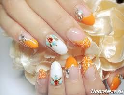Oranžová Manikúra Sluneční Pozici Pro Plážovou Sezónu Oranžová Bunda
