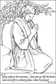 Small Picture Jesus Praying Coloring Page