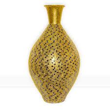 Decorative Jugs And Vases Buy 30 Seketa Regent Gold Surahi Jug Vase Glass Mosaic Metal