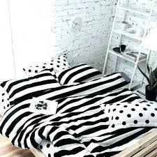 white stripe bedding black and white striped duvet soft cotton polka dot stripe bedding sets 4