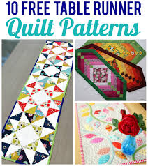 10 FREE Table Runner Quilt Patterns You'll Love & 10 Free Table Runner Quilt Patterns Adamdwight.com