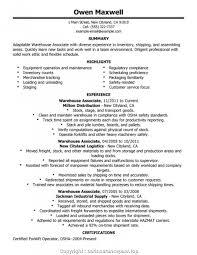 Cover Letter Best Warehouse Worker Resume Warehouse Job Resume