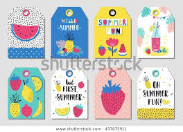 Summer Gift Tags Summer Gift Tags Labels Fun Elements Stock Vector Royalty