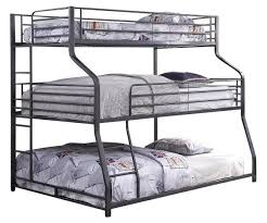 Kani Metal Twin XL over Full XL over Queen 3 Bed Bunk Bed