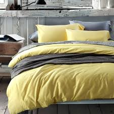 Solid Full Queen Size Quilt Cover Yellow Bedding Sets-Solid ... & Solid Full Queen Size Quilt Cover Yellow Bedding Sets Adamdwight.com