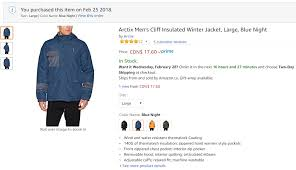 Arctix Size Chart Amazon Canada Arctix Mens Cliff Insulated Winter Jacket