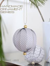 Decorating Christmas Ornaments Balls Homemade Paper Ball Ornaments handmade ornament no 100 27