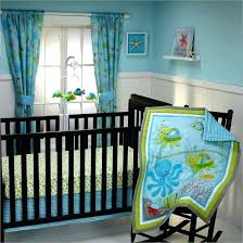 ocean themed crib bedding nursery curtains underwater sets