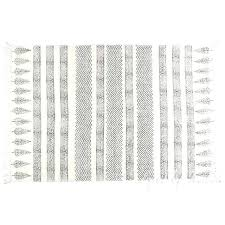 elegant black and white flat weave rug from woven cotton block print area