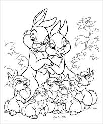 Full size free printable easter coloring pages. Free 9 Bunny Coloring Pages In Ai