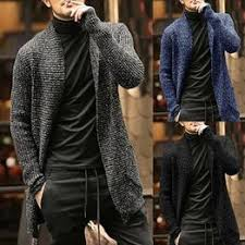 Men Fashion Leisure Knitted Cardigan Sweater Long <b>Plus Size</b> ...