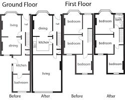best idea and modern terace modern victorian terrace loft conversion floor plans 5 modern victorian terrace