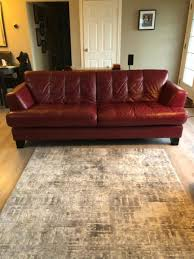 red italian leather sofa chair and
