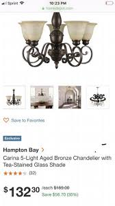 hampton bay carina 5 light chandelier for in perris ca