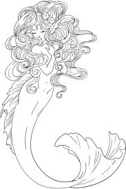 Realistic Mermaid Coloring Pages Shyni Moonlightings Freebie Mermaid
