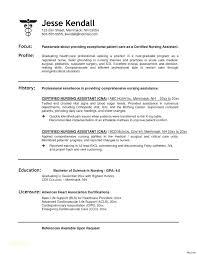 Certified Nurse Aide Resume Examples Nursing Assistant Free Samples