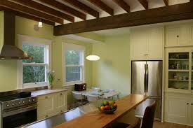 Interior:Elegant Kitchen Interior Design With Wooden Exposed Ceiling Decor  Idea Elegant Kitchen Interior Design