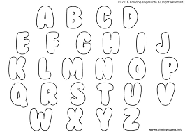 Bubble Letters Coloring Pages Printable