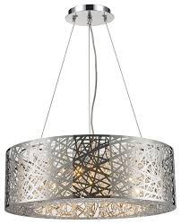 round contemporary 12 light led chrome finish clear crystal chandelier